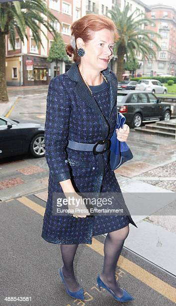 Lady Foster Elena Ochoa attends the deliberate meeting for 2014 Prince of Asturias Award for the Arts on May 6 2014 in Asturias Spain