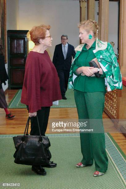 Lady Foster Elena Ochoa attends the deliberate meeting for 2014 Prince of Asturias Award for the Arts on May 3 2017 in Asturias Spain