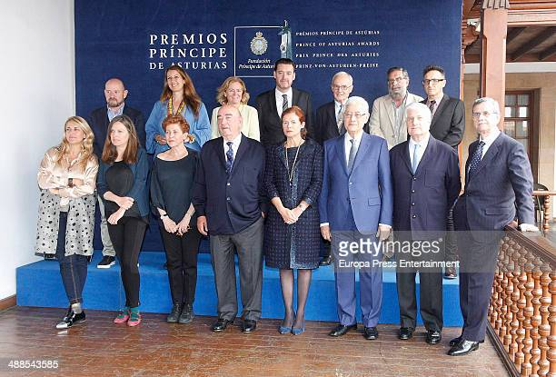 Lady Foster Elena Ochoa Carlos FitzJames Stuart and Ouka Lele attend the deliberate meeting for 2014 Prince of Asturias Award for the Arts on May 6...