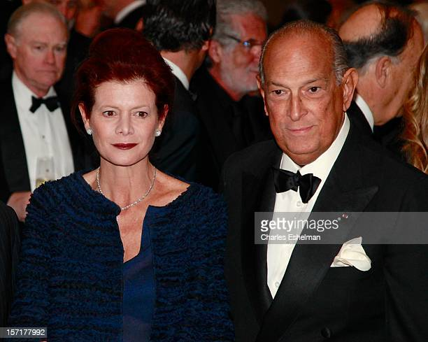 Lady Foster of Thames Bank Elena Ochoa and Oscar de la Renta attend the Queen Sofia Spanish Institute 2012 Gold Medal gala at The Waldorf Astoria on...