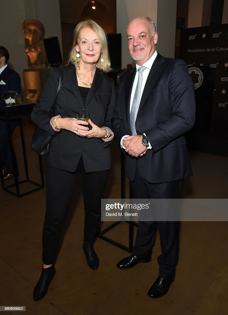 Lady Frances Sorrell and Kevin Boltman attend the Montblanc de la Culture Arts Patronage Award for the work of the Genesis Foundation at The British Museum on October 12, 2017 in London, England.