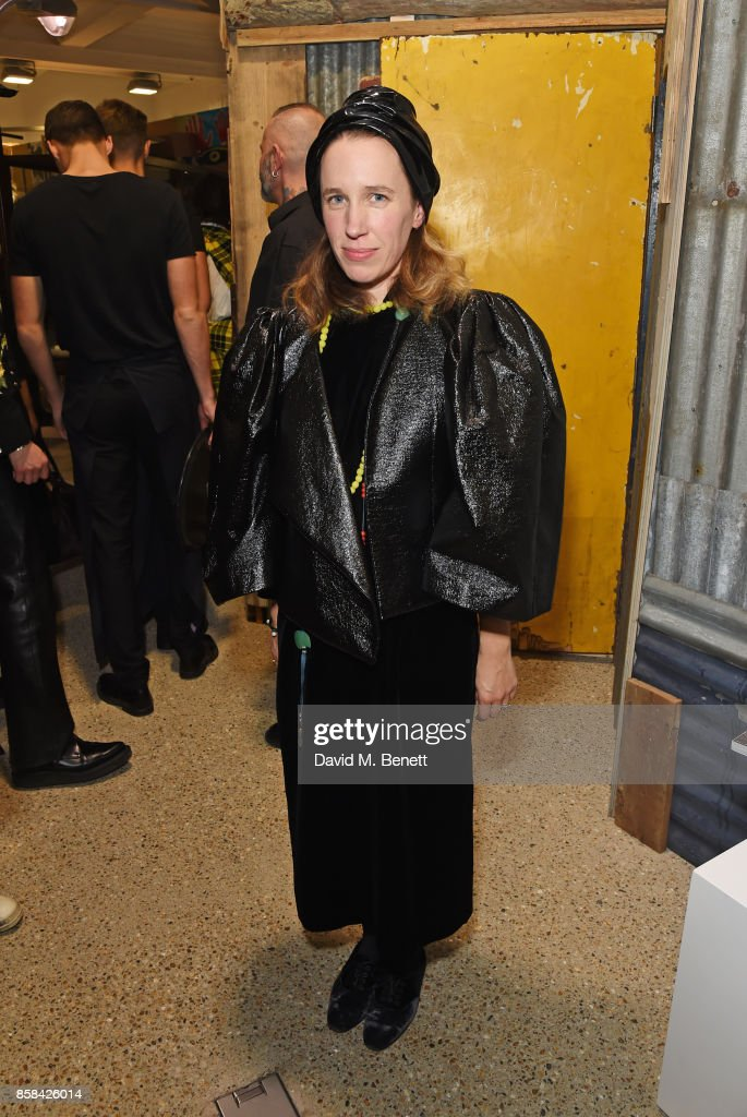 Lady Frances von Hofmannsthal attends the Dover Street Market open house on October 6, 2017 in London, England.