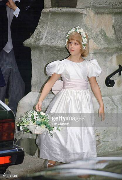 Lady Gabriella Windsor As A Bridesmaid At Lord Oglivy's Wedding
