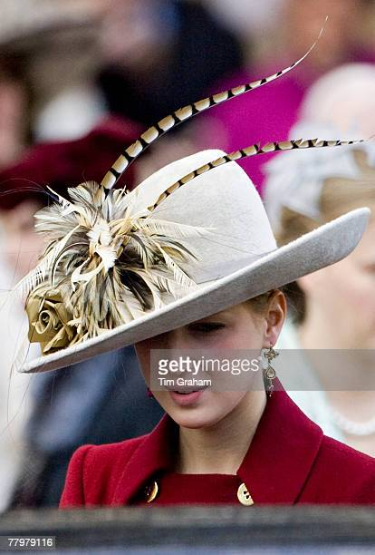 Lady Gabriella Windsor attends a service of thanksgiving at Westminster Abbey to celebrate the Queen and Prince Philip's Diamond Wedding Anniversary...