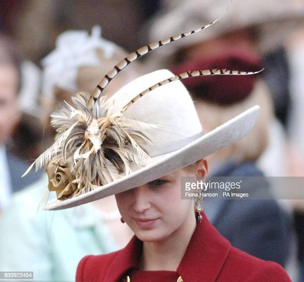 Lady Gabriella Windsor leave Westminster Abbey London after a service of celebration to mark the diamond wedding anniversary of Queen Elizabeth II...