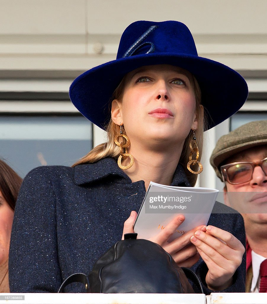 Lady Gabriella Windsor watches the racing as she attends the Hennessy Gold Cup at Newbury Racecourse on December 01, 2012 in Newbury, England.