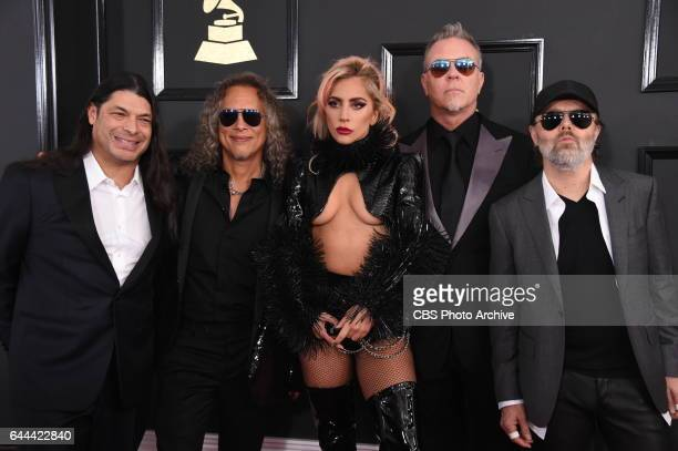 Lady Gaga and and Metallica on the Red Carpet at THE 59TH ANNUAL GRAMMY AWARDS broadcast live from the STAPLES Center in Los Angeles Sunday Feb 12 on...