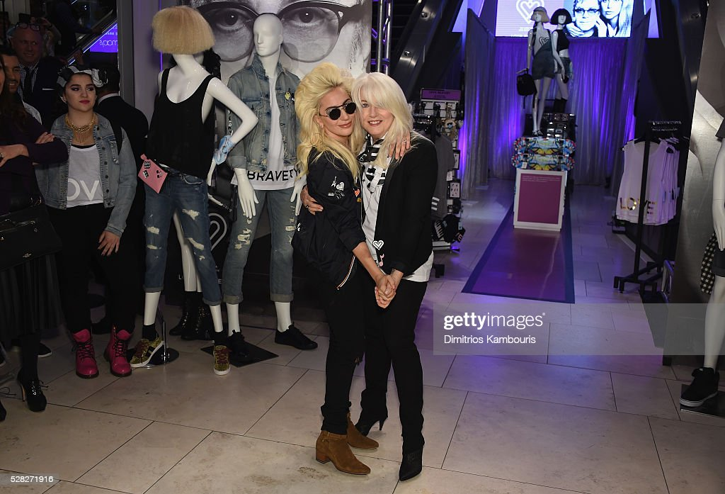 <a gi-track='captionPersonalityLinkClicked' href=/galleries/search?phrase=Lady+Gaga&family=editorial&specificpeople=4456754 ng-click='$event.stopPropagation()'>Lady Gaga</a> and <a gi-track='captionPersonalityLinkClicked' href=/galleries/search?phrase=Cynthia+Germanotta&family=editorial&specificpeople=6745042 ng-click='$event.stopPropagation()'>Cynthia Germanotta</a> attend Love Bravery by <a gi-track='captionPersonalityLinkClicked' href=/galleries/search?phrase=Lady+Gaga&family=editorial&specificpeople=4456754 ng-click='$event.stopPropagation()'>Lady Gaga</a> and Elton John Launch at Macy's Herald Square on May 4, 2016 in New York City.