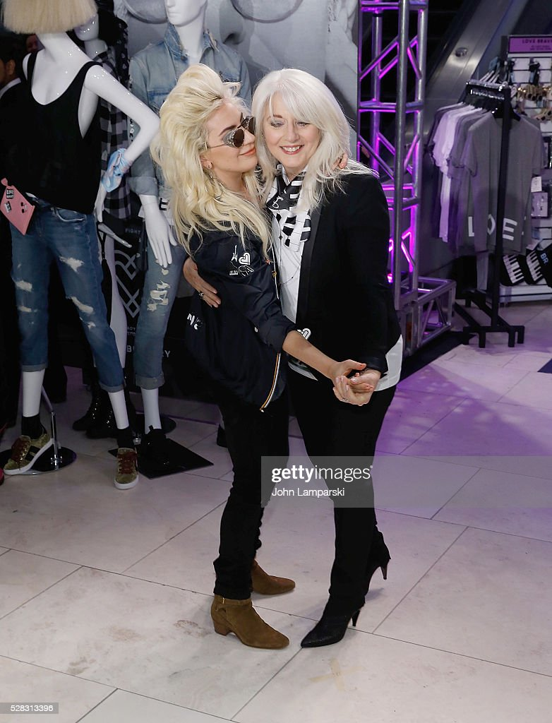 Lady Gaga and Cynthia Germanotta launch Love Bravery Collection at Macy's Herald Square at Macy's Herald Square on May 4, 2016 in New York City.
