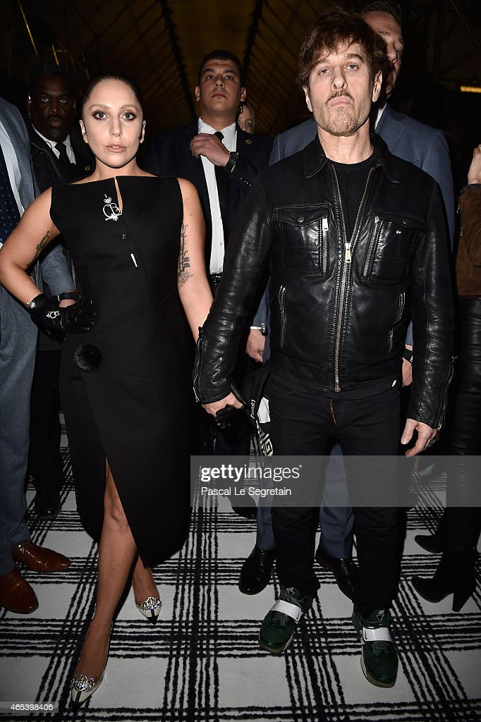 Lady Gaga and guest attend the Balenciaga show as part of the Paris Fashion Week Womenswear Fall/Winter 2015/2016 on March 6 2015 in Paris France