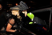Lady Gaga and Kermit the frog attend the 2009 MTV Video Music Awards at Radio City Music Hall on September 13 2009 in New York City