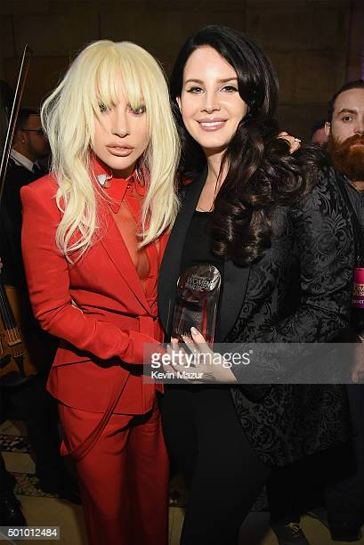 Lady Gaga and Lana Del Rey attend Billboard Women In Music 2015 on Lifetime at Cipriani 42nd Street on December 11 2015 in New York City