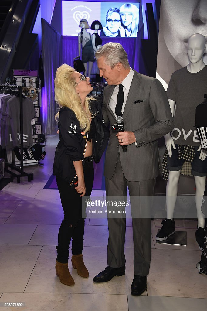 <a gi-track='captionPersonalityLinkClicked' href=/galleries/search?phrase=Lady+Gaga&family=editorial&specificpeople=4456754 ng-click='$event.stopPropagation()'>Lady Gaga</a> and Macy's CEO Terry J. Lundgren attend Love Bravery by <a gi-track='captionPersonalityLinkClicked' href=/galleries/search?phrase=Lady+Gaga&family=editorial&specificpeople=4456754 ng-click='$event.stopPropagation()'>Lady Gaga</a> and Elton John Launch at Macy's Herald Square on May 4, 2016 in New York City.