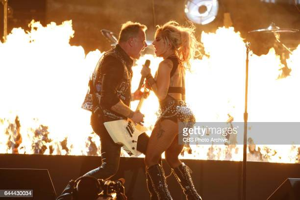 Lady Gaga and Metallica perform during THE 59TH ANNUAL GRAMMY AWARDS broadcast live from the STAPLES Center in Los Angeles Sunday Feb 12 on the CBS...