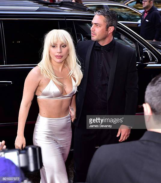 Lady Gaga and Taylor Kinney arrive to Billboard's 10th Annual Women In Music at Cipriani 42nd Street on December 11 2015 in New York City