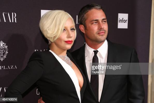 Lady Gaga and Taylor Kinney attend Harper's Bazaar ICONS Celebration at The Plaza Hotel on September 5 2014 in New York City