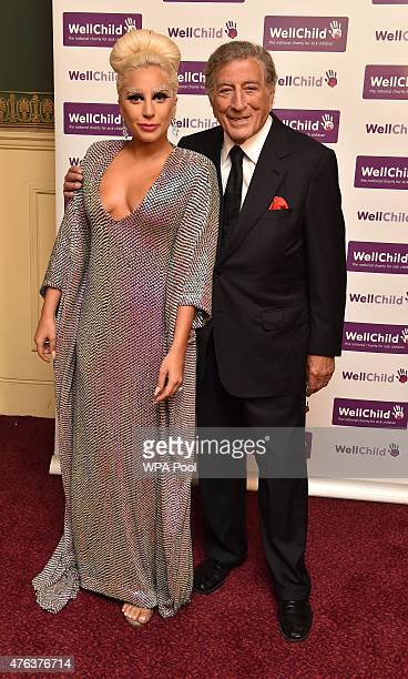 Lady Gaga and Tony Bennett prior to the Gala Concert in aid of WellChild at Royal Albert Hall on June 8 2015 in London England