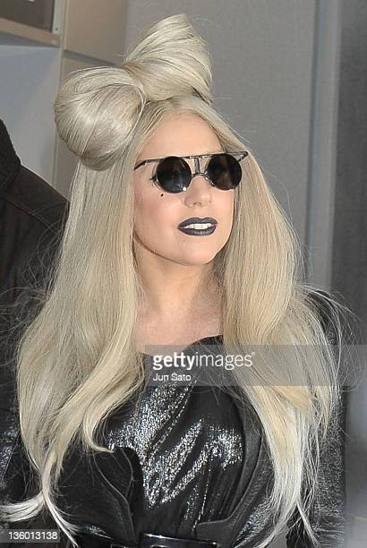 Lady Gaga arrives at Narita International Airport on December 20 2011 in Narita Japan