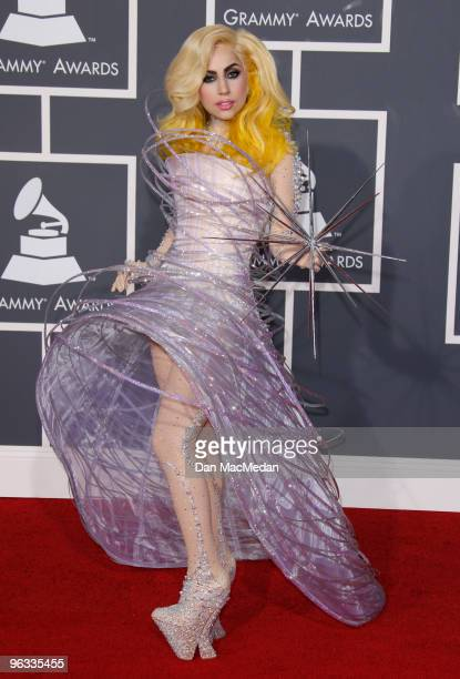 Lady Gaga arrives at the 52nd Annual GRAMMY Awards held at Staples Center on January 31 2010 in Los Angeles California
