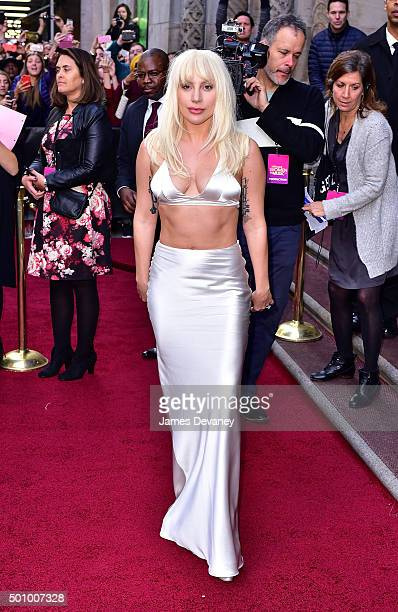 Lady Gaga arrives to Billboard's 10th Annual Women In Music at Cipriani 42nd Street on December 11 2015 in New York City