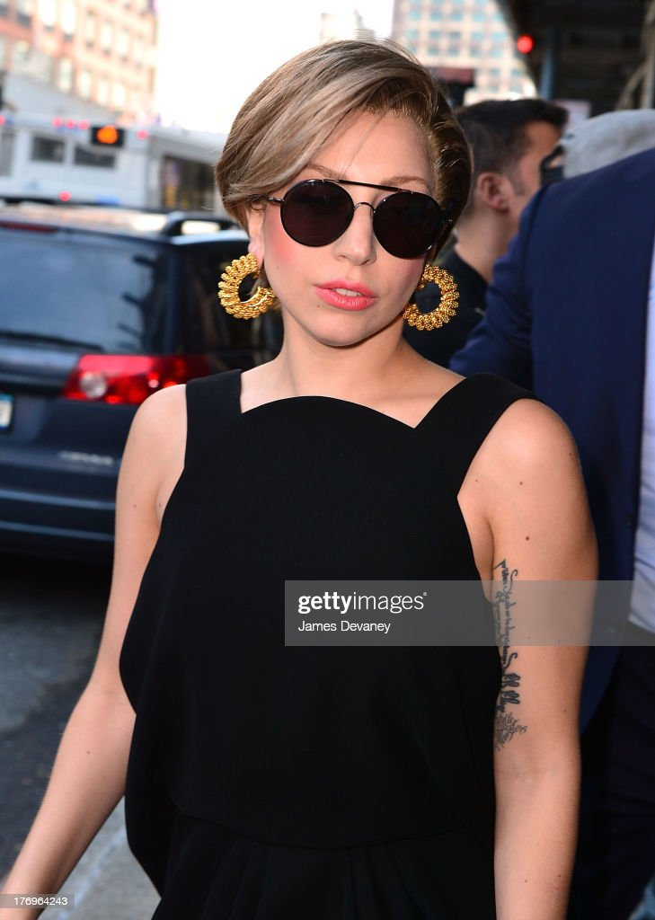 Lady Gaga arrives to the 'Elvis Duran and the Z100 Morning Show' at Z100 Studio on August 19, 2013 in New York City.