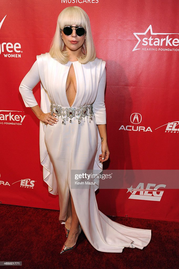 lady gaga attends musicares person of the year honoring carole king at los angeles convention