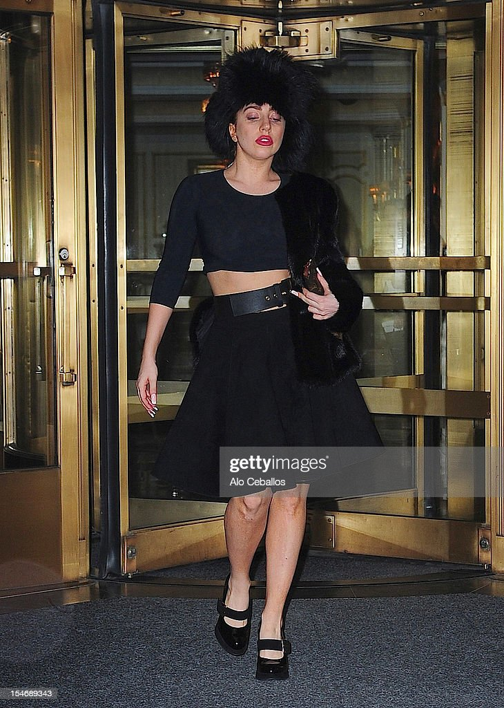 <a gi-track='captionPersonalityLinkClicked' href=/galleries/search?phrase=Lady+Gaga&family=editorial&specificpeople=4456754 ng-click='$event.stopPropagation()'>Lady Gaga</a> attends a private dinner hosted by Donatella Versace at the Waldorf Towers on October 24, 2012 in New York City.
