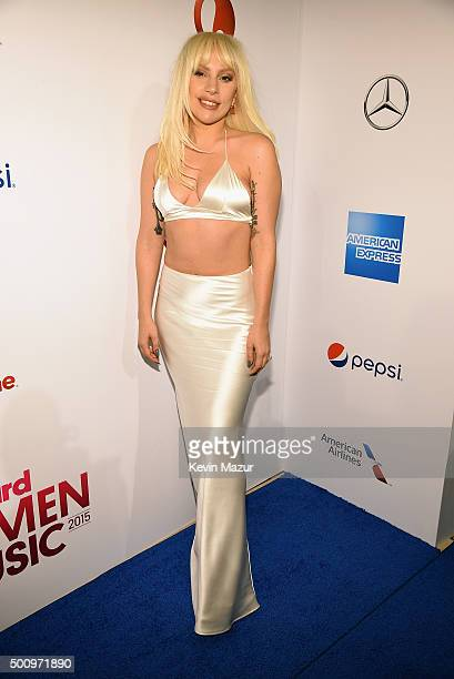 Lady Gaga attends Billboard Women In Music 2015 on Lifetime at Cipriani 42nd Street on December 11 2015 in New York City