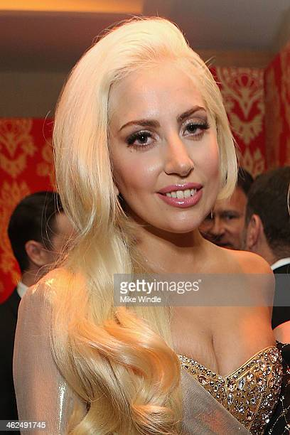 Lady Gaga attends HBO's Post 2014 Golden Globe Awards Party held at Circa 55 Restaurant on January 12 2014 in Los Angeles California