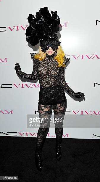 Lady Gaga attends MAC VIVA GLAM launch event on March 1 2010 in London England