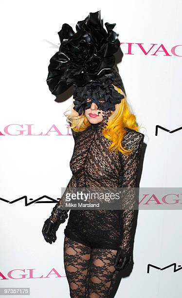 Lady Gaga attends MAC VIVA GLAM launch photocall on March 1 2010 in London England