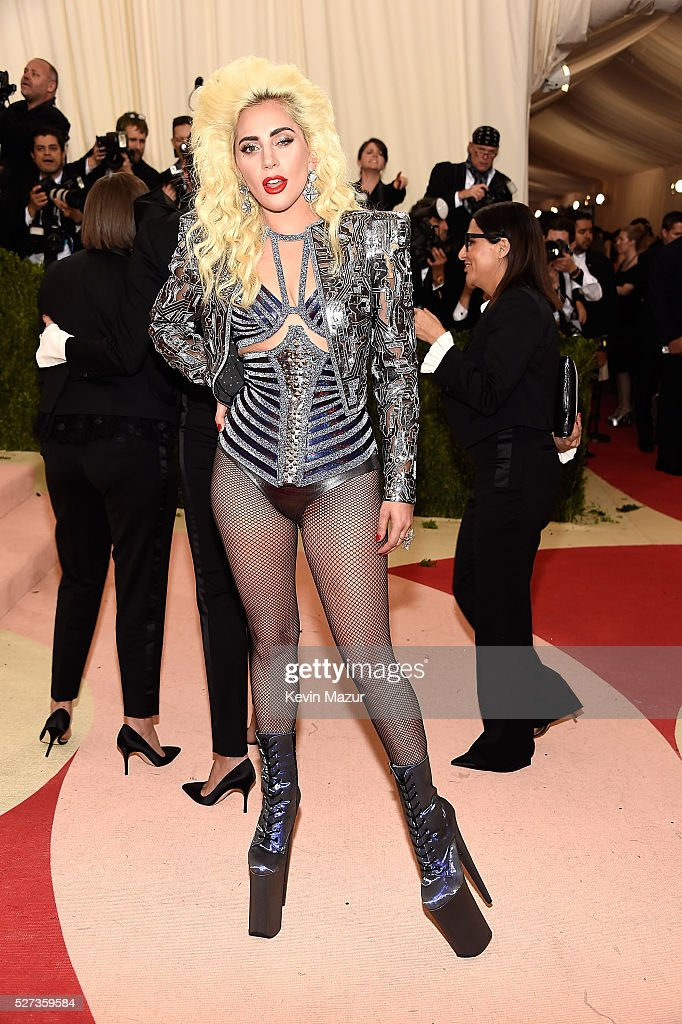 Lady Gaga attends 'Manus x Machina: Fashion In An Age Of Technology' Costume Institute Gala at Metropolitan Museum of Art on May 2, 2016 in New York City.