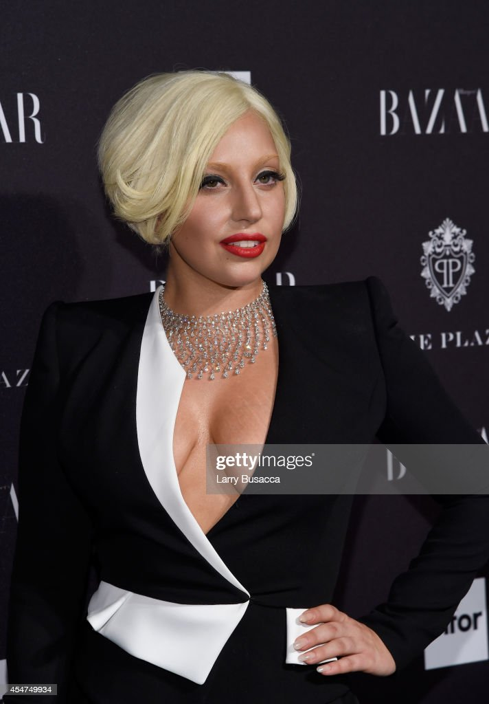 Lady Gaga attends Moet Chandon and Belvedere Vodka Toast to Harper's Bazaar Icons at The Plaza Hotel on September 5 2014 in New York City