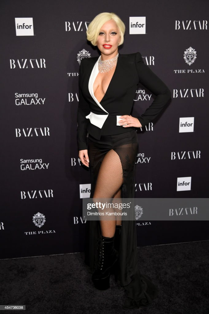 Lady Gaga attends Samsung GALAXY at Harper's BAZAAR celebrates Icons by Carine Roitfeld at The Plaza Hotel on September 5 2014 in New York City