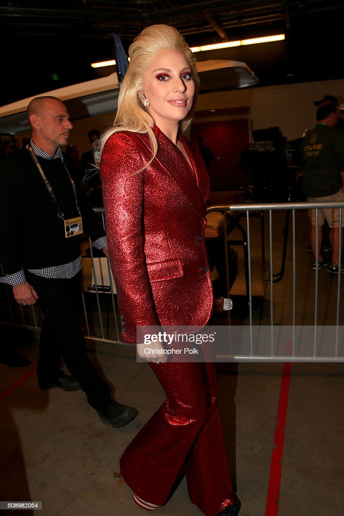 Lady Gaga attends Super Bowl 50 at Levi's Stadium on February 7, 2016 in Santa Clara, California.