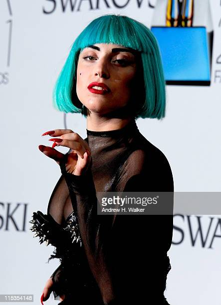 Lady Gaga attends the 2011 CFDA Fashion Awards at Alice Tully Hall Lincoln Center on June 6 2011 in New York City