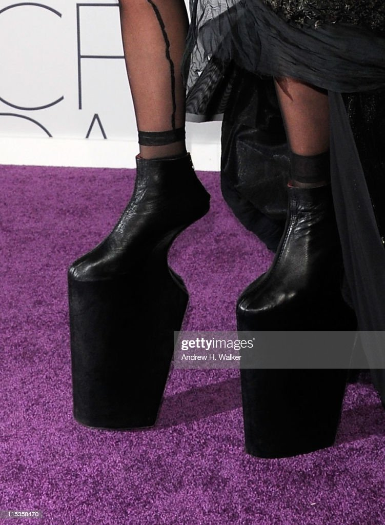 Lady Gaga (shoe detail) attends the 2011 CFDA Fashion Awards at Alice Tully Hall, Lincoln Center on June 6, 2011 in New York City.