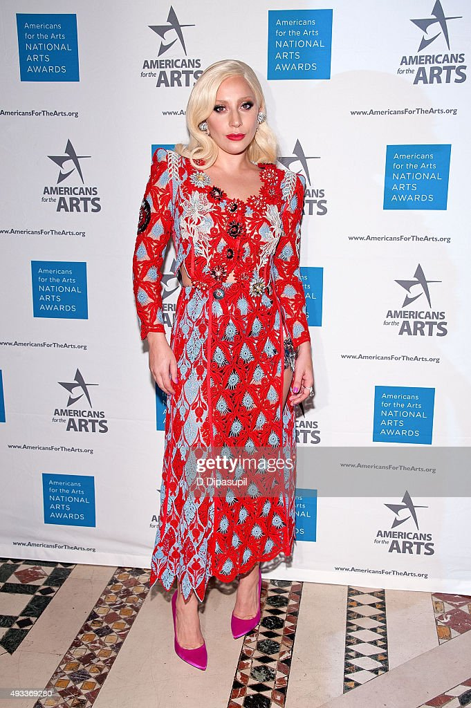 Lady Gaga attends the 2015 National Arts Awards at Cipriani 42nd Street on October 19, 2015 in New York City.