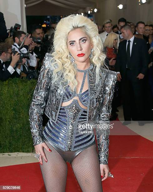 Lady Gaga attends the 2016 Costume Institute Gala at the Metropolitan Museum of Art on May 02 2016 in New York New York