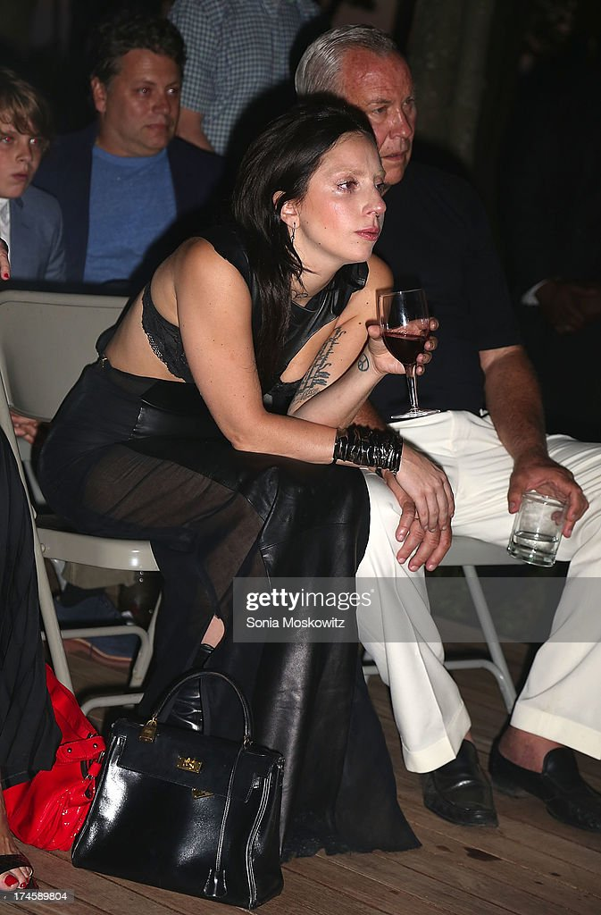 <a gi-track='captionPersonalityLinkClicked' href=/galleries/search?phrase=Lady+Gaga&family=editorial&specificpeople=4456754 ng-click='$event.stopPropagation()'>Lady Gaga</a> attends The 20th Annual Watermill Center Summer Benefit at The Watermill Center on July 27, 2013 in Water Mill, New York.