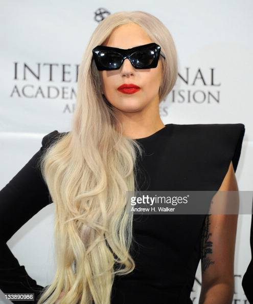 Lady Gaga attends the 39th International Emmy Awards at the Mercury Ballroom at the New York Hilton on November 21 2011 in New York City