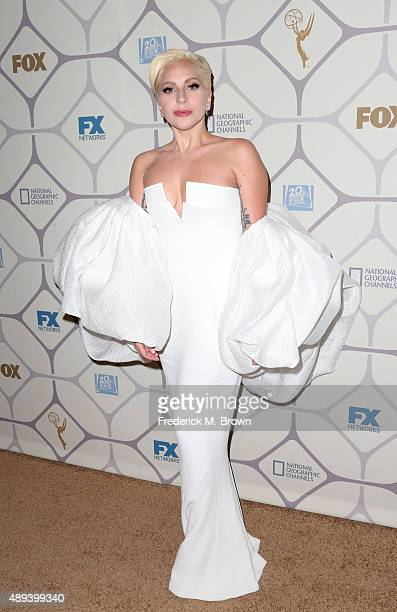 Lady Gaga attends the 67th Primetime Emmy Awards Fox after party on September 20 2015 in Los Angeles California