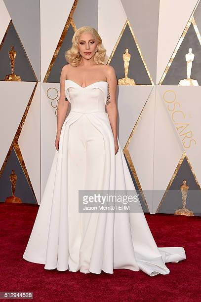 Lady Gaga attends the 88th Annual Academy Awards at Hollywood Highland Center on February 28 2016 in Hollywood California