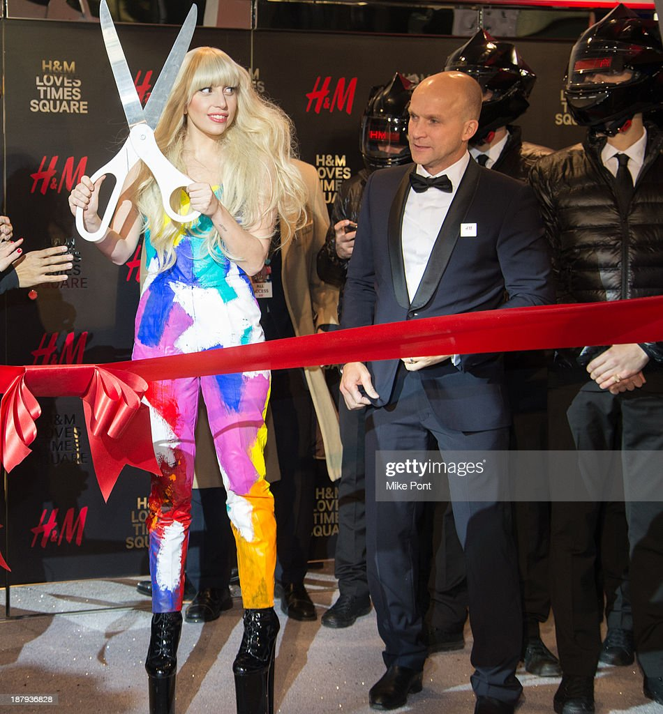 Lady Gaga attends the H&M Times Square grand opening on November 13, 2013 in New York City.