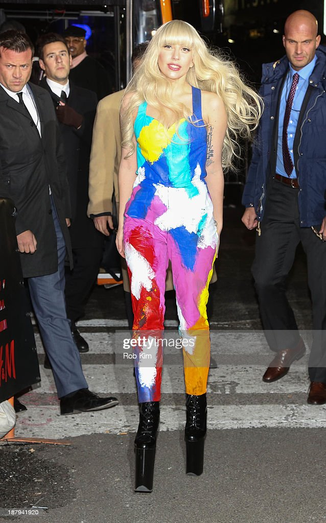 <a gi-track='captionPersonalityLinkClicked' href=/galleries/search?phrase=Lady+Gaga&family=editorial&specificpeople=4456754 ng-click='$event.stopPropagation()'>Lady Gaga</a> attends the H&M Times Square grand opening on November 13, 2013 in New York City.