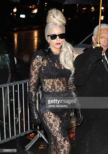 Lady Gaga attends the 'Lady Gaga x Terry Richardson' book launch party at The New Museum on November 22 2011 in New York City