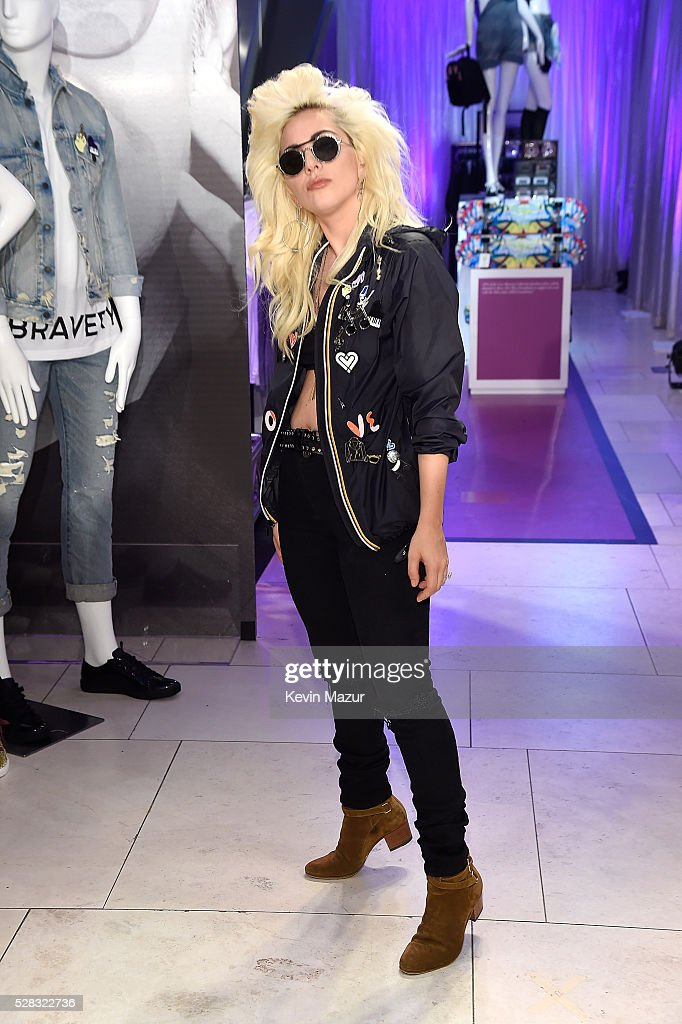 <a gi-track='captionPersonalityLinkClicked' href=/galleries/search?phrase=Lady+Gaga&family=editorial&specificpeople=4456754 ng-click='$event.stopPropagation()'>Lady Gaga</a> attends the launch of 'Bravery' by <a gi-track='captionPersonalityLinkClicked' href=/galleries/search?phrase=Lady+Gaga&family=editorial&specificpeople=4456754 ng-click='$event.stopPropagation()'>Lady Gaga</a> and Elton John at Macy's Herald Square on May 4, 2016 in New York City.