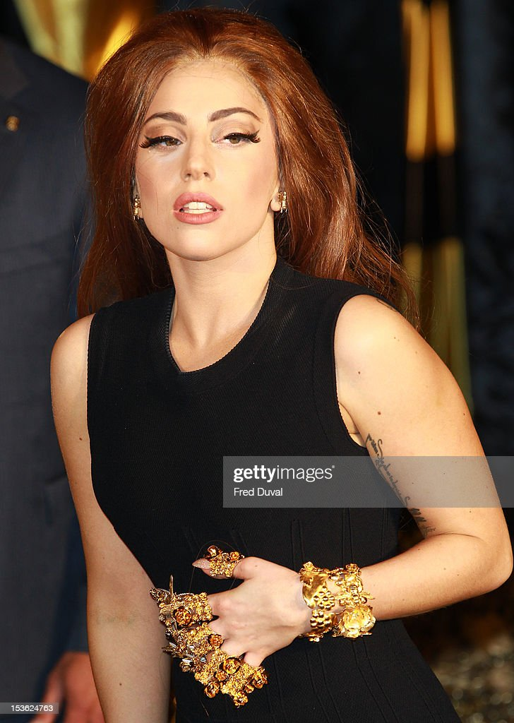 Lady Gaga attends the launch of Fame by Lady Gaga at Harrods on October 7, 2012 in London, England.