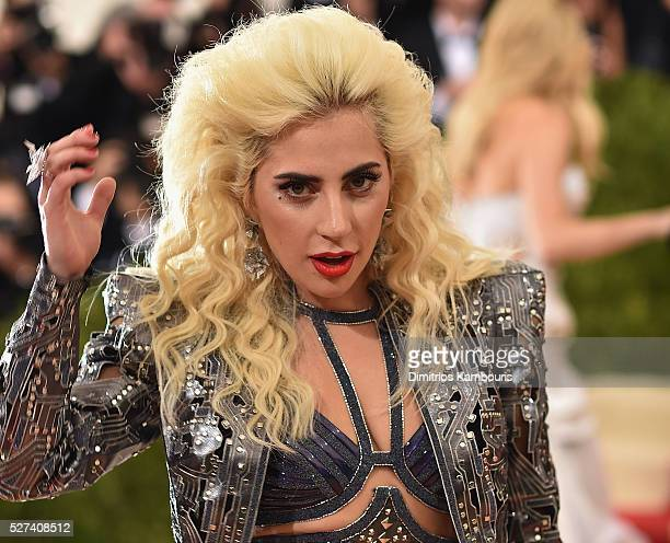Lady Gaga attends the 'Manus x Machina Fashion In An Age Of Technology' Costume Institute Gala at Metropolitan Museum of Art on May 2 2016 in New...