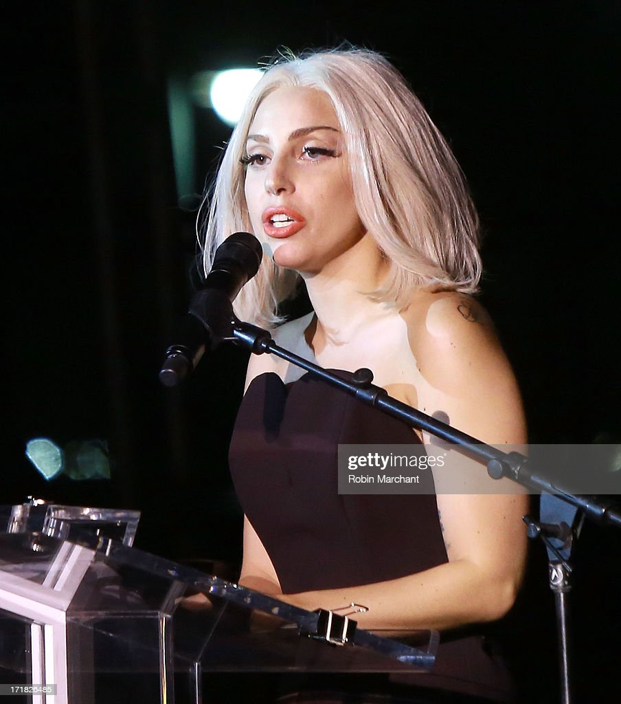 <a gi-track='captionPersonalityLinkClicked' href=/galleries/search?phrase=Lady+Gaga&family=editorial&specificpeople=4456754 ng-click='$event.stopPropagation()'>Lady Gaga</a> attends The Rally during NYC Pride 2013 on June 28, 2013 in New York City.